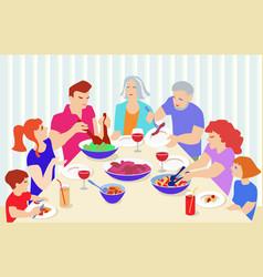 Family dinner vector