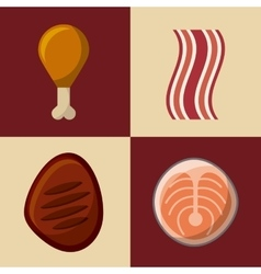 fast food design vector image