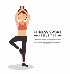 fitness sport athletic girl training vector image