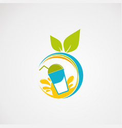 fresh juice logo icon element and template vector image