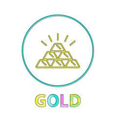 gold web button linear icon for online payments vector image