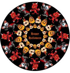 Halloween round image vector