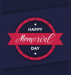 Happy memorial day poster vector