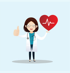 healthcare and cardiology concept vector image