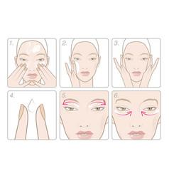 How to apply an eye cream vector