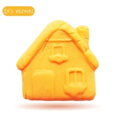 Icon of plasticine house vector
