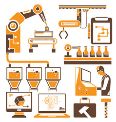 industrial machine and engineering tools vector image