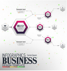 Infographics business template concept with 4 opti vector
