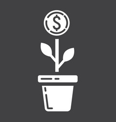 investment growth glyph icon business and finance vector image vector image