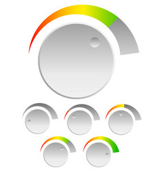 Knob with level indicator adjust opacity mask to vector
