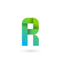 Letter r ribbon logo icon design template elements vector