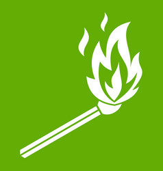 match flame icon green vector image