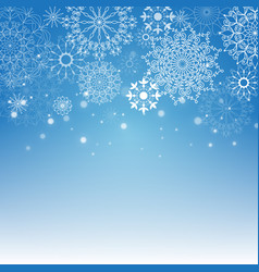 merry christmas and new year blue background vector image