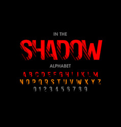 modern font with shadow effect alphabet letters vector image