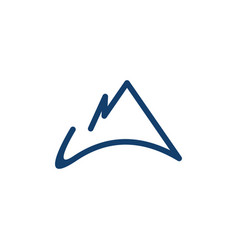 modern mountain minimalist business logo design vector image
