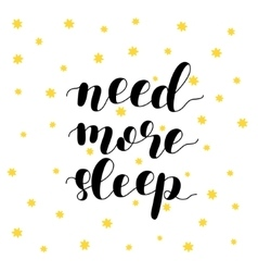 Need more sleep vector