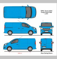 Opel vivaro cargo panel van l1h1 2015 vector