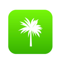 palm icon digital green vector image