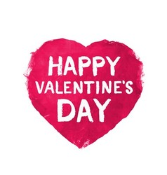 Pink Valentine heart watercolor vector