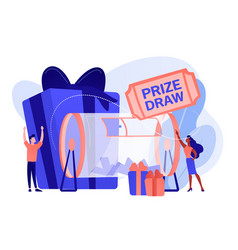 Prize draw concept vector