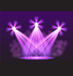 purple spotlights vector image