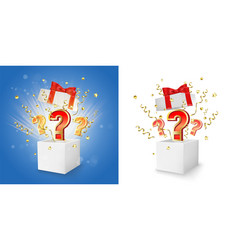 Question box concept for banner poster vector