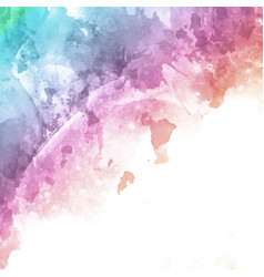rainbow coloured watercolour texture background vector image