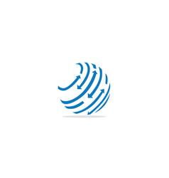 round sphere arrow orbit logo vector image