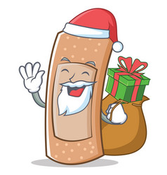 santa band aid character cartoon vector image