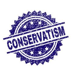 Scratched textured conservatism stamp seal vector