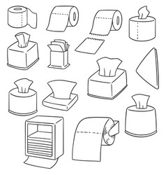set of tissue paper vector image
