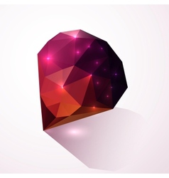 Shining dark pink crystal vector