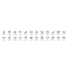 Simple line stroke icon setnew 5th generation vector