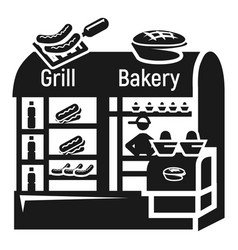 street grill bakery icon simple style vector image