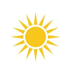 Sun icon Light sign yellow design element vector image