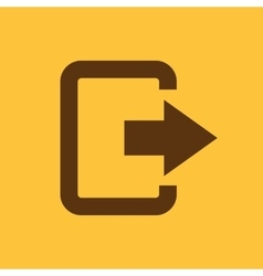 The exit bag icon Logout and output outlet out vector image