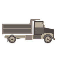 trailer truck and cargo container for shipping vector image