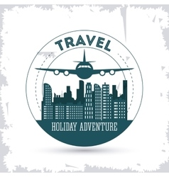 Travel design Tourism icon vintage vector image