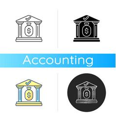 treasury icon vector image