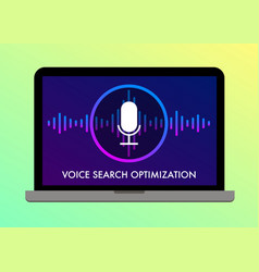 voice search optimization flat banner vector image
