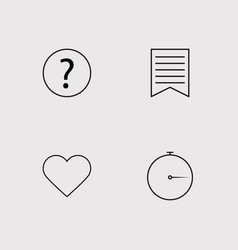 Web outline icons set vector