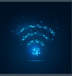 wifi light vector image