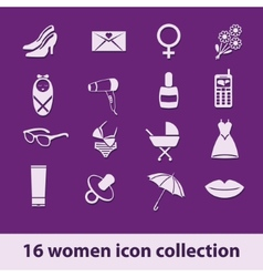 Women icon collection vector