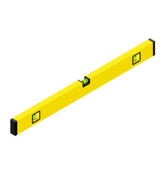 Yellow spirit level isolated on white background vector