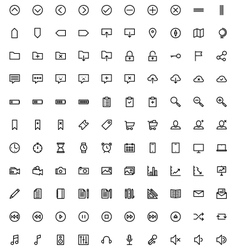 140 web icons vector image vector image