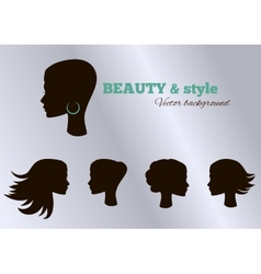 Black girls facial collection set set vector image