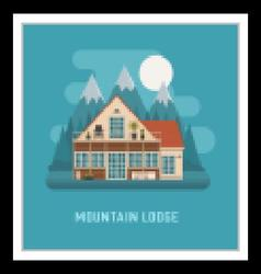 Mountain Lodge House Landscape vector image