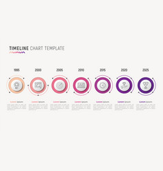 Timeline chart infographic design for data vector