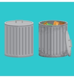 Trash cans two icon xxl vector image vector image