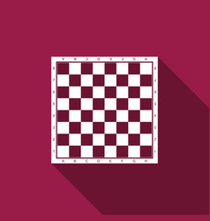 chess board flat icon with long shadow vector image